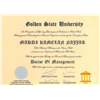 مدرك دكترا ـ دانشگاه گلدن استيت